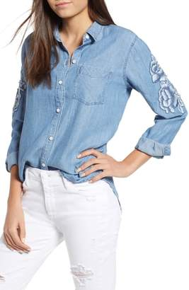 Rails Ingrid Embroidered Chambray Shirt