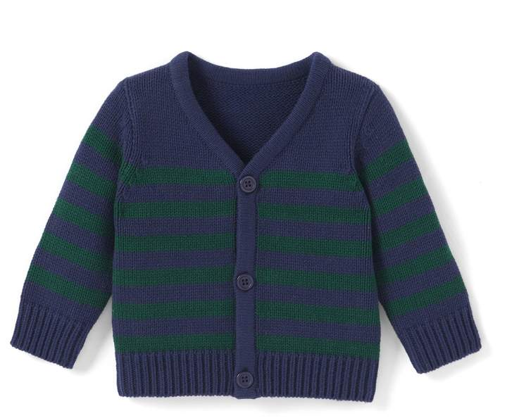 La Redoute Collections Striped Cardigan, 1 Month - 3 Years