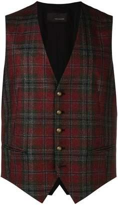 Tagliatore checked vest