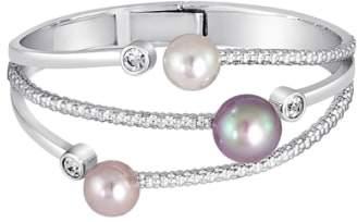 Majorica Simulated Pearl & Cubic Zirconia Hinge Bracelet