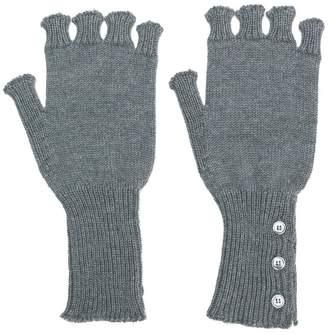 Thom Browne Fingerless Wool Gloves