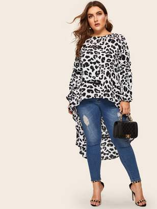 5f7b9bde722a Black And White Leopard Blouse - ShopStyle