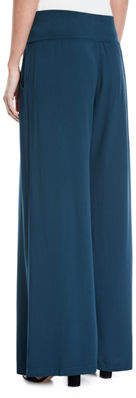 XCVI Talon Pleated Wide-Leg Crepe Pants