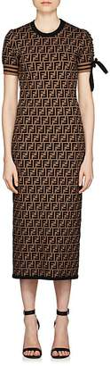 Fendi Women's Jacquard-Knit Fitted Dress