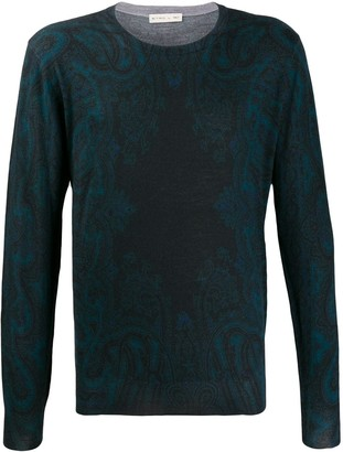 Etro faded paisley print sweatshirt