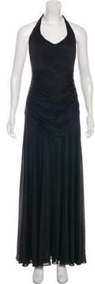 Richard Tyler Sleeveless Halter Dress Black Sleeveless Halter Dress