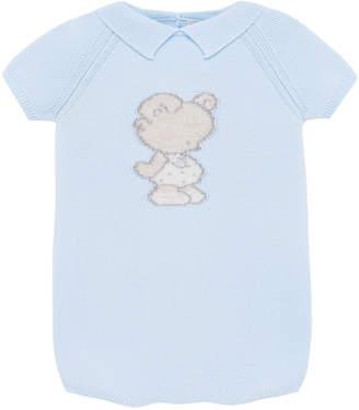 Carrera Pili Knit Bear Intarsia Romper, Size 3-18 Months
