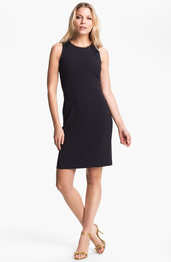 MICHAEL Michael Kors Embellished Neck Sleeveless Dress (Petite)