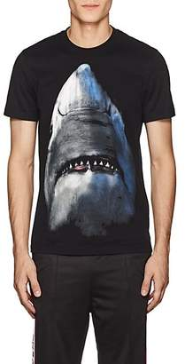 Givenchy Men's Shark-Print Cotton T-Shirt - Black