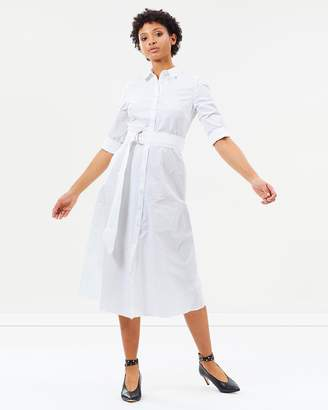 Warehouse Cotton Midi Dress