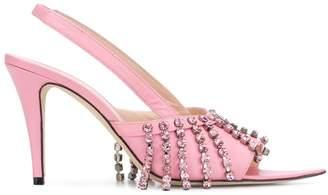 Christopher Kane crystal fringe heeled sandals