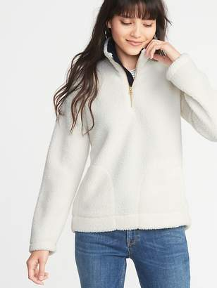 Old Navy Sherpa 1/4-Zip Mock-Neck Popover for Women