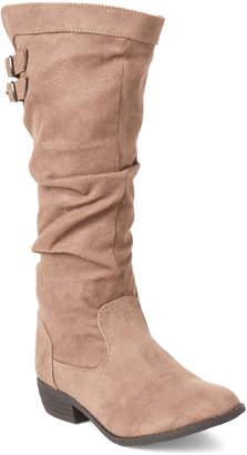 Nina Kids Girls) Taupe Gilda Slouchy Tall Boots