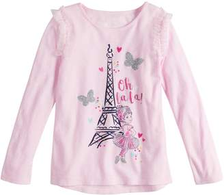 "Disneyjumping Beans Disney's Fancy Nancy Toddler Girl Eiffel Tower ""Oh La La"" Graphic Tee by Jumping Beans"