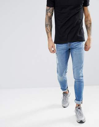 Hoxton Denim Skinny Jeans in Mid Wash