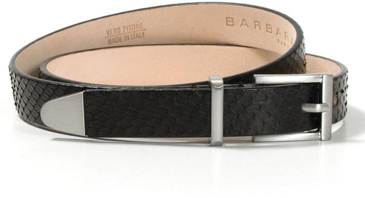 Barbara Bui Black python leather belt