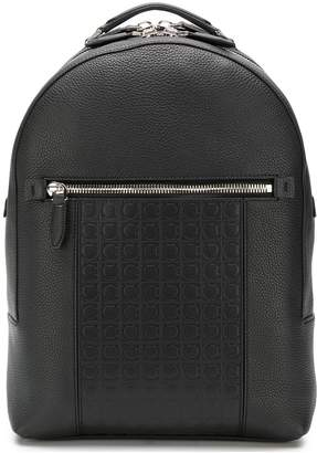 Salvatore Ferragamo embossed logo backpack