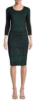 Gabby Skye Leopard Printed Sheath Dress