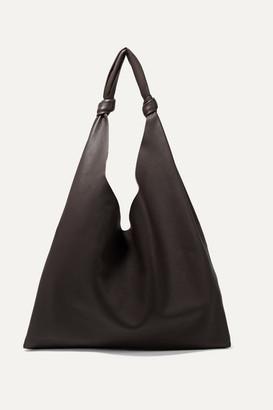 The Row Bindle Textured-leather Shoulder Bag - Dark brown