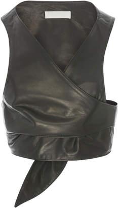 Athena Partow Leather Vest