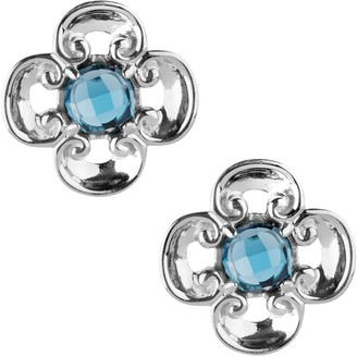 Carolyn Pollack Sterling Harmony Gemstone Button Earrings