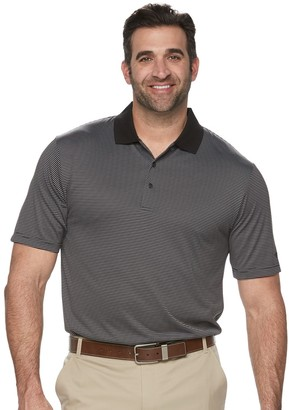 Equipment Big & Tall Grand Slam Off Course Regular-Fit Striped Performance Golf Polo