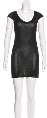 Joseph Sheer Knit Mini Dress