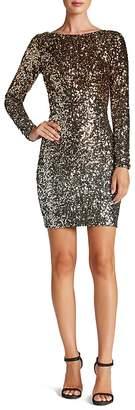 Dress the Population Lola Long-Sleeve Sequin Dress