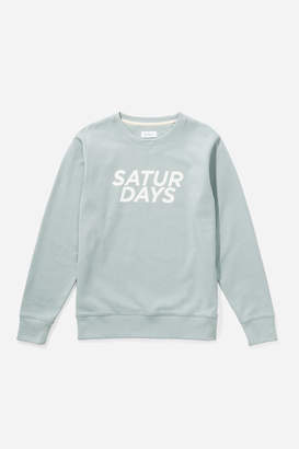 Saturdays NYC Bowery Gotham Italic Sweatshirt