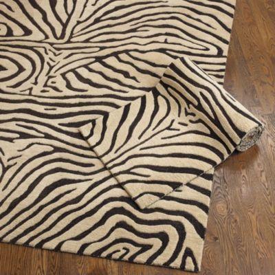Ferrata Zebra Striped Rug