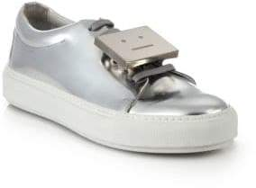 Acne Studios Adrianna Metallic Leather Emoticon Sneakers