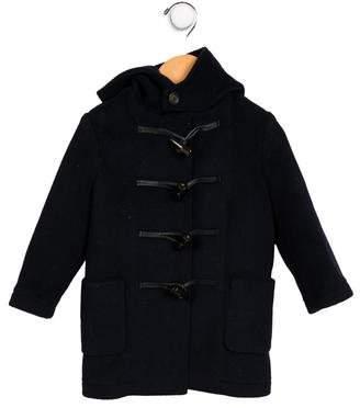 Burberry Boys' Hooded Toggle Coat