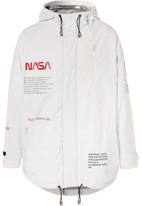 Heron Preston + Nasa Oversized Logo-Detailed Reflective Shell Parka