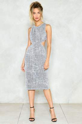 Nasty Gal Turn Your Back On 'Em Metallic Dress