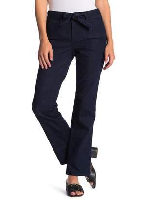 NYDJ Marilyn Tie Waist Straight Trouser Jeans (Petite)
