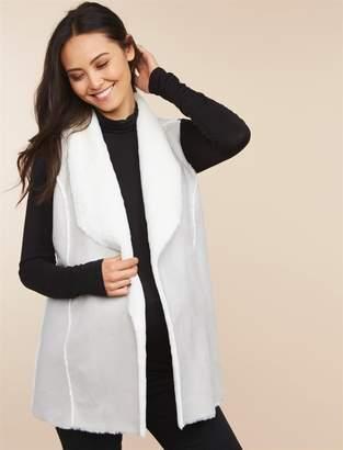 Motherhood Maternity Faux Fur Maternity Vest