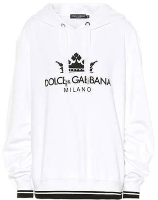 Dolce & Gabbana Printed cotton-blend hoodie