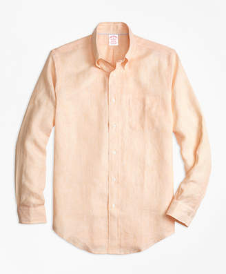 Brooks Brothers Madison Fit Irish Linen Sport Shirt