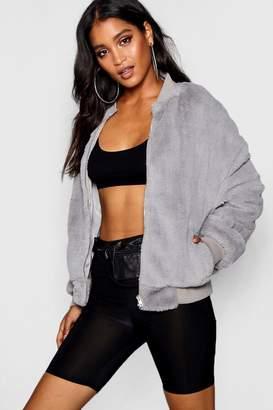 boohoo Nicole Faux Fur Bomber Jacket