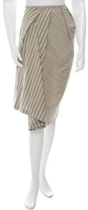 Acne Studios Striped Pleated Skirt