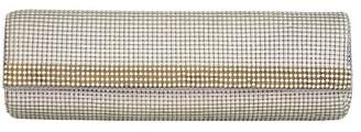 Whiting & Davis Bead Mesh & Crystal Embellished Baguette Clutch