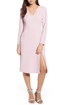 Leith Long Sleeve High Slit Midi Dress (Regular & Plus Size)