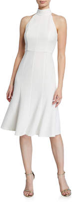 Donna Morgan Crepe Fit-and-Flare Halter Dress