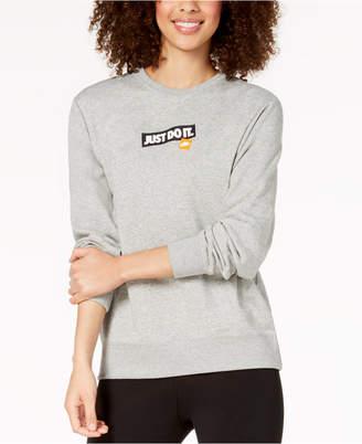 """Nike Sportswear """"Just Do It"""" Fleece Sweatshirt"""