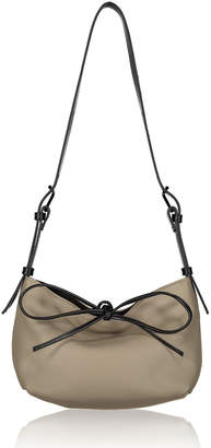 Joanna Maxham Pebble Leather Bow Tie Hobo Bag