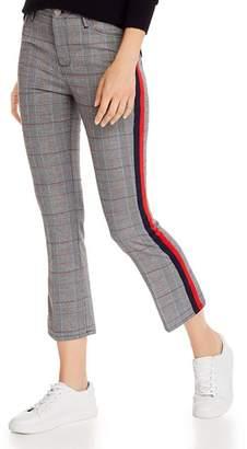 Aqua Striped-Trim Plaid Ponte Pants - 100% Exclusive
