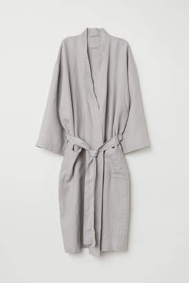 H&M Washed linen dressing gown