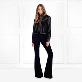Rachel Zoe Sky Leather Fringe Jacket