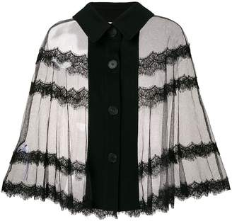 McQ sheer lace blouse
