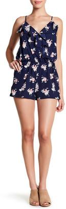 Mimi Chica Ruffle Trim Print Romper $42 thestylecure.com